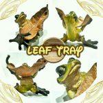 秋までもう少し。インテリアにどうぞ!☆ カエル落ち葉トレイ
