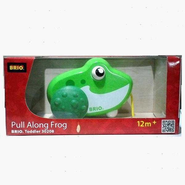 brio ひっぱるおもちゃ pull along frog カエルグッズのオンライン