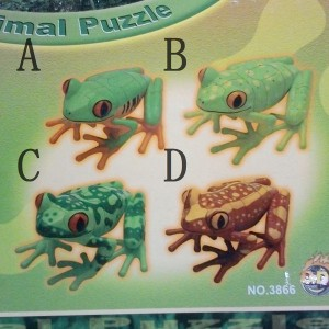 [import] Animal Puzzle FROGS Collection 4種
